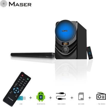 Maser DEEJAY SBW4555BTF Bluetooth Soundbar  (Black, 2.1 Channel)