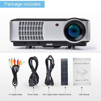 FULL HD RD806 MULTIPURPOSE Projector  (Black, Grey)
