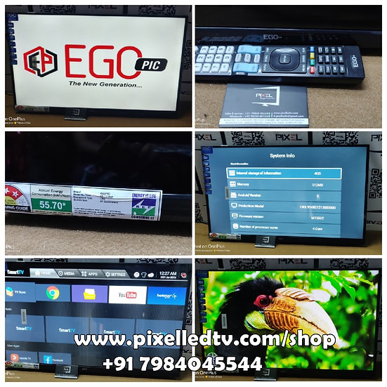 """📺32"""" EGO FREMLESS + FULL HD + HAEVY SOUND WITH ANDROID 9 LED-TV"""