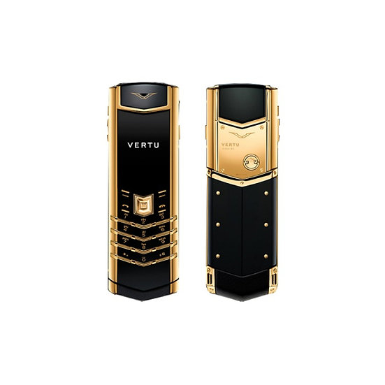 VERTU SIGNATURE S GOLD BLACK LEATHER