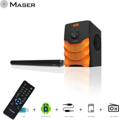 Maser XPLODE SBW5555BTF Bluetooth Soundbar  (Black, 4.1 Channel)