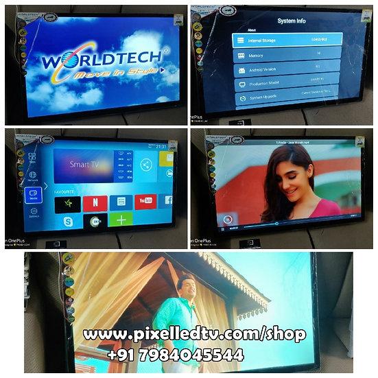 "📺32"" WORLDTECH + TUFF GLASS+ ANDROID 4K HDR+ SOUNDBAR LED-TV DHAMAKA OFFER📺"