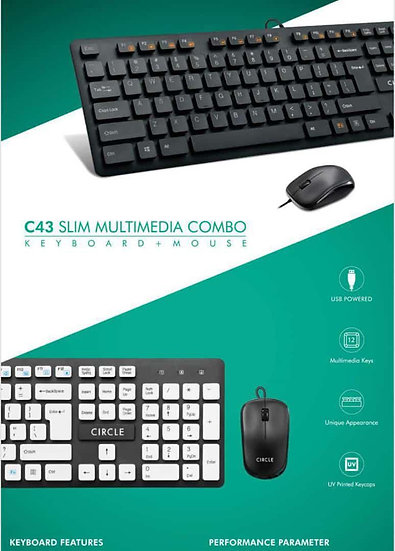 CIRCLE_C43_ MULTIMEDIA _KEYBOARD _ AND_MOUSE _ COMBO