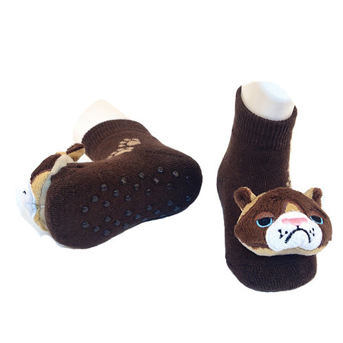 Smarty Cat Boogie Toes 3D Baby Bootie Rattle Sock