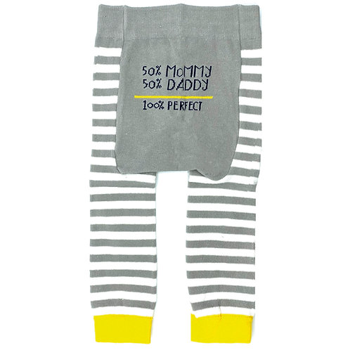 50% Mommy, 50% Daddy - 100% Perfect - Baby Tights Baby Leggings