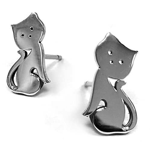 Cat Boogie Lobes Earrings - Stainless 316 - Wholesale