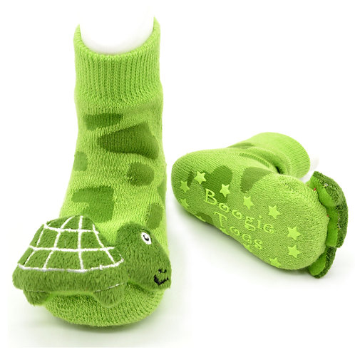 Green Turtle Boogie Toes Rattle Socks - Wholesale