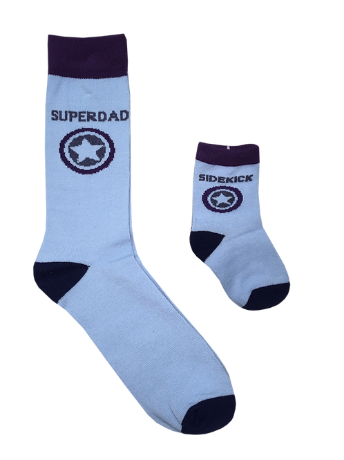 Daddy and Me Socks, Superdad Sidekick - Wholesale