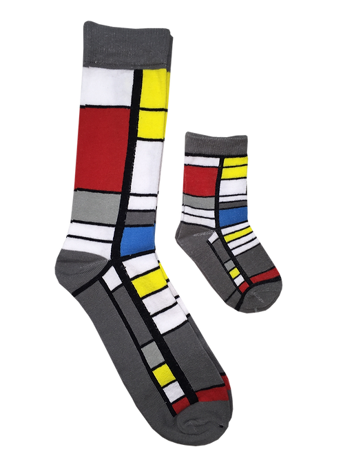 Daddy and Me Socks, Mondrian Classic - Wholesale