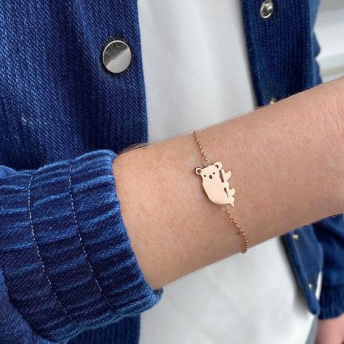 Koala bracelet, PVD Rose Gold, 316 Stainless Steel