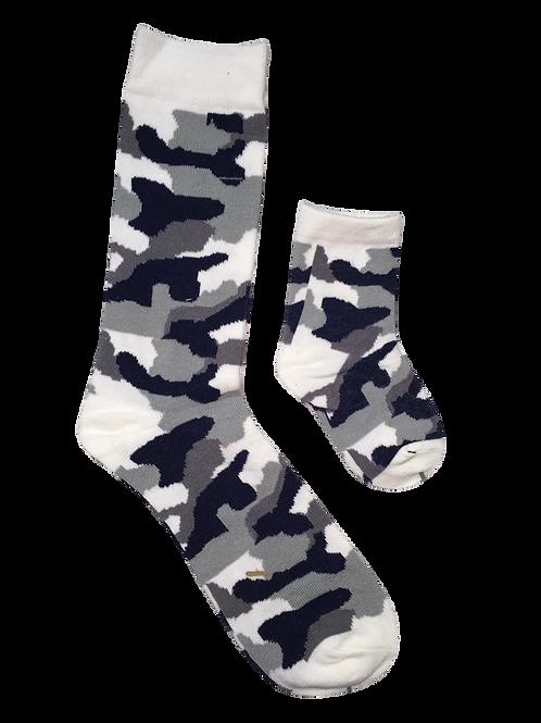 Daddy & Me Socks, Military Gray