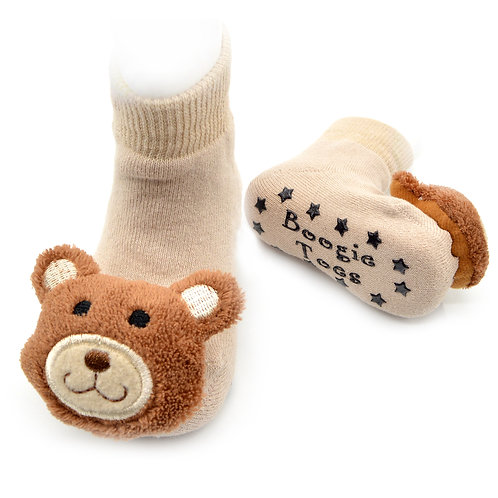 Teddy Bear Boogie Toes Rattle Socks - Wholesale