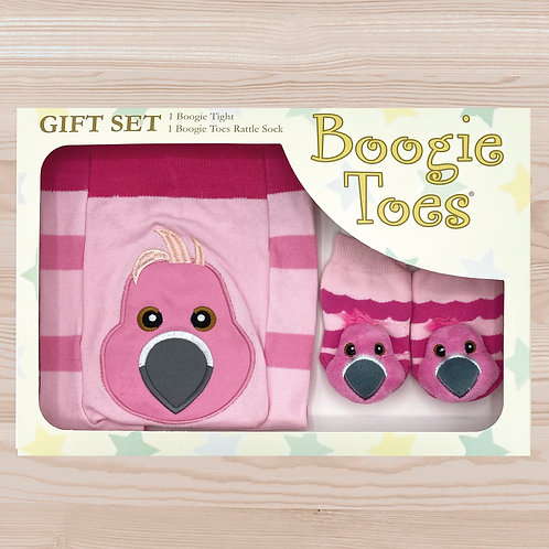 Flamingo Tight Rattle Gift Box 6-12M - Wholesale