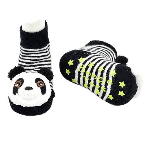 Panda Boogie Toes 3D Baby Bootie Rattle Sock