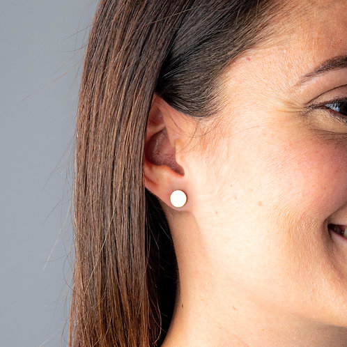 Simple Circle Boogie Lobes Earrings - Rose Gold / Stainless 316 - Wholesale