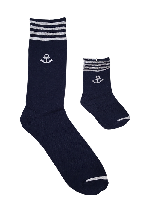 Daddy and Me Socks, Sailor Navy - Wholesale
