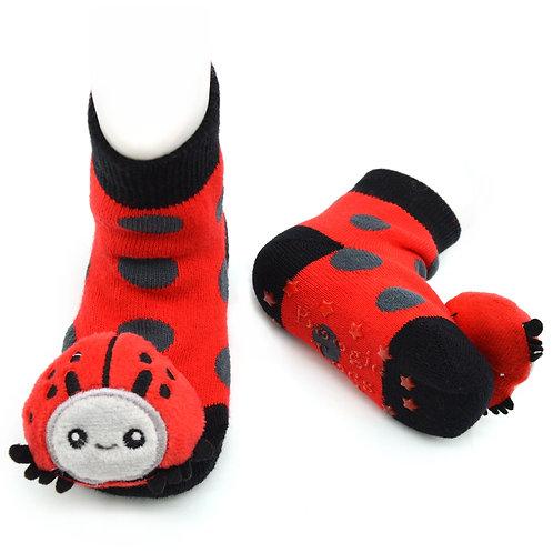 Ladybug Boogie Toes Rattle Socks