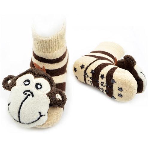 Monkey Boy Boogie Toes Rattle Socks - Wholesale