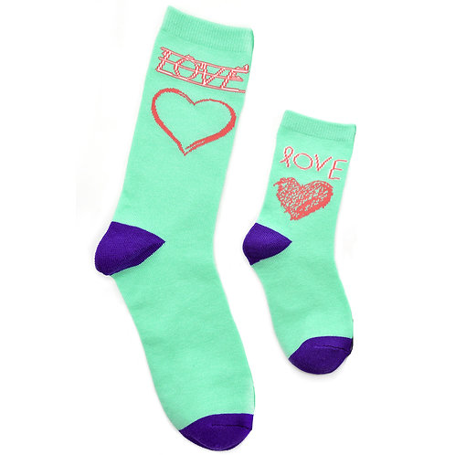 Mommy and Me Socks, Learning to Write Love - Wholesale
