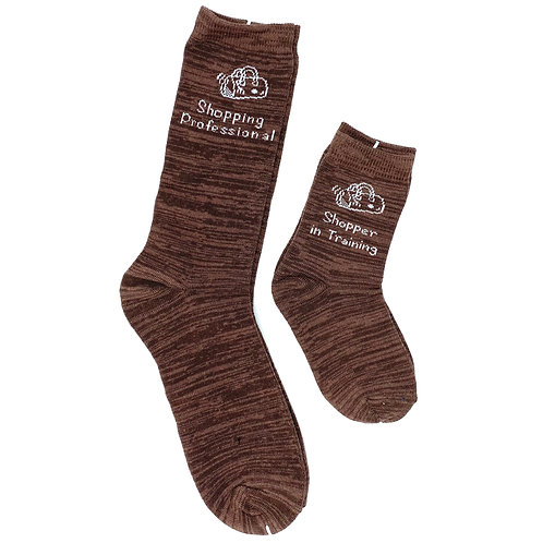 Mommy and Me Socks, Shopping Professional In Training - Wholesale