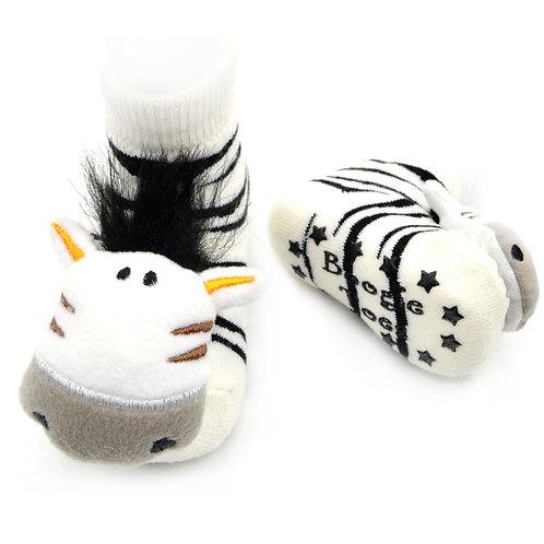Zebra Boogie Toes Rattle Socks - Wholesale