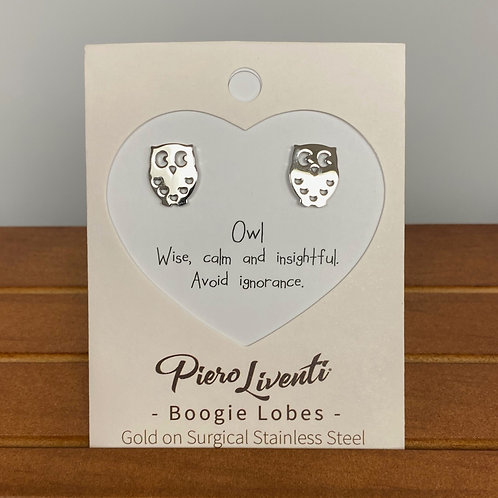 Owl Boogie Lobes Earrings - Stainless 316
