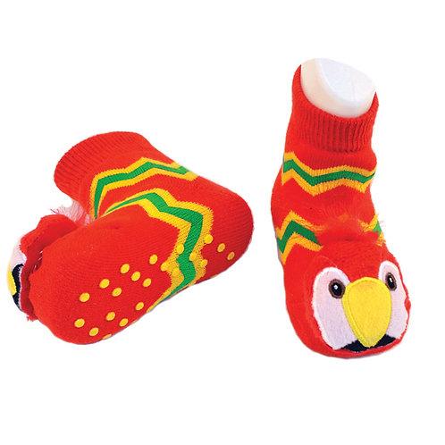 Tropical Bird Boogie Toes 3D Baby Bootie Rattle Sock
