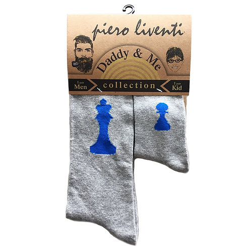 Daddy and Me Socks, King Pawn - Wholesale
