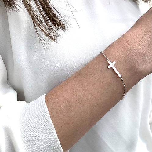 Cross bracelet, 316 Stainless Steel