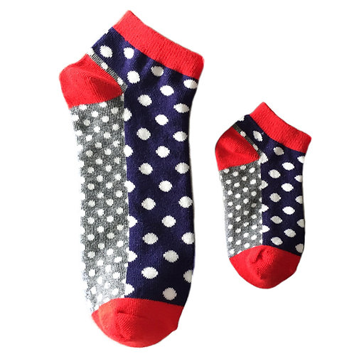 Mommy and Me Matching Socks, Polka Dots -Wholesale