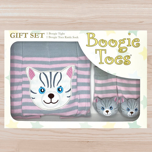 Gray Cat Tight Rattle Gift Box 6-12M - Wholesale
