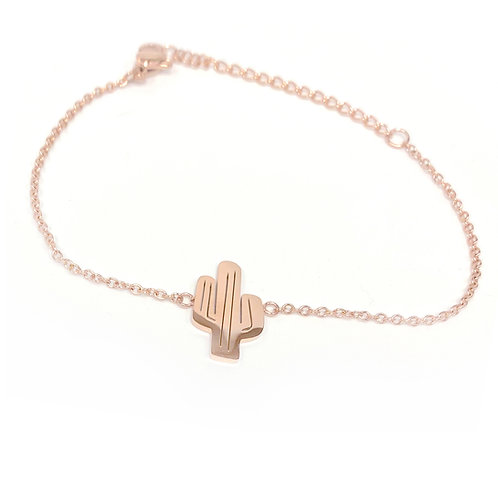 Cactus bracelet, PVD Rose Gold, 316 Stainless Steel