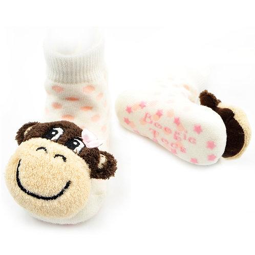 Monkey Girl Boogie Toes Rattle Socks - Wholesale