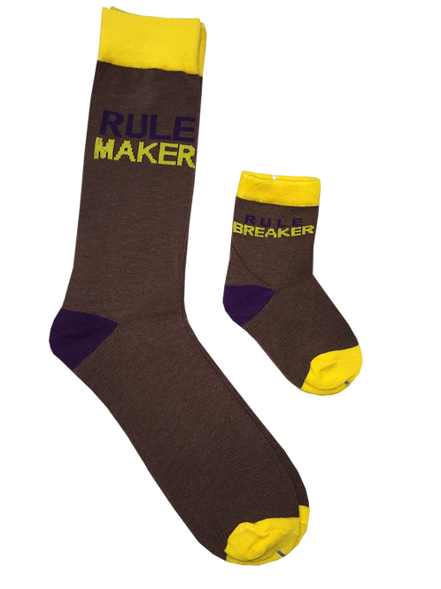 Daddy & Me Socks, Rule Maker Rule Breaker