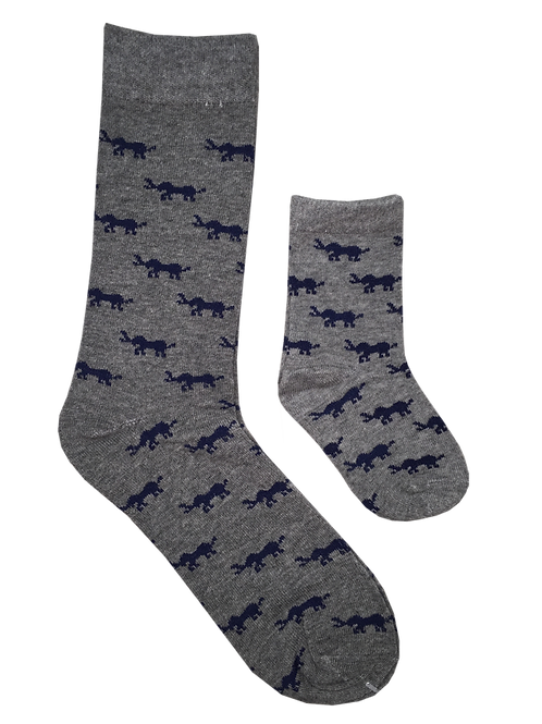 Daddy & Me Socks, Elephants