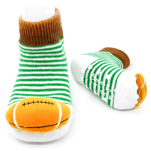 Football Boogie Toes Rattle Socks - Wholesale