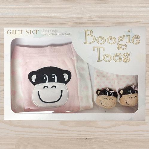 Monkey Girl Tight Rattle Gift Box 6-12M - Wholesale