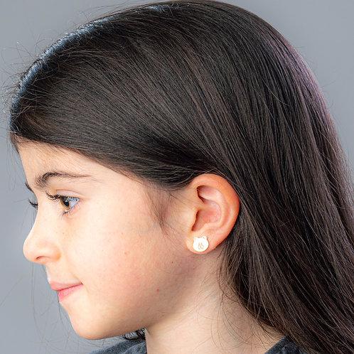 Teddy Bear Boogie Lobes Earrings - Rose Gold / Stainless 316