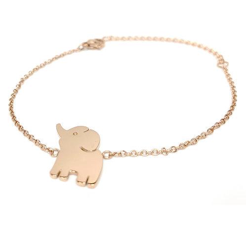 Baby Elephant bracelet, PVD Rose Gold, 316 Stainless Steel
