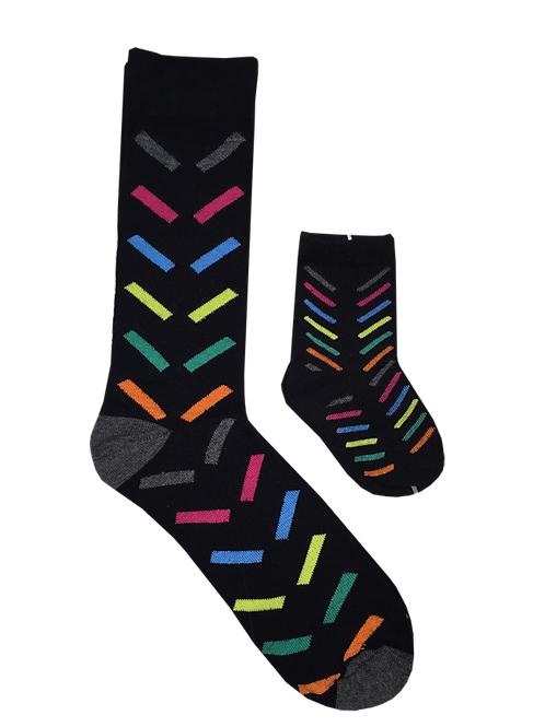 Daddy and Me Socks, Neon Confetti - Wholesale