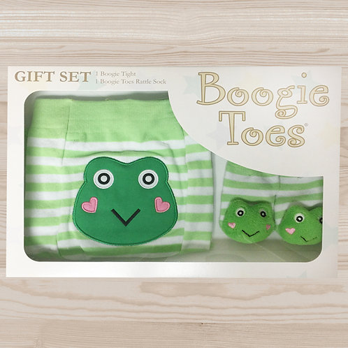 Green Frog Tight Rattle Gift Box 6-12M - Wholesale