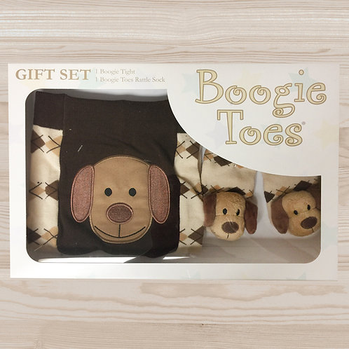 Brown Dog Tight Rattle Gift Box 6-12M - Wholesale