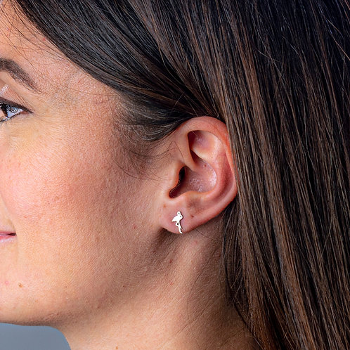 Flamingo Boogie Lobes Earrings - Rose Gold / Stainless 316 - Wholesale