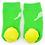 Tennis  Boogie Toes Flat Baby Bootie Rattle Sock