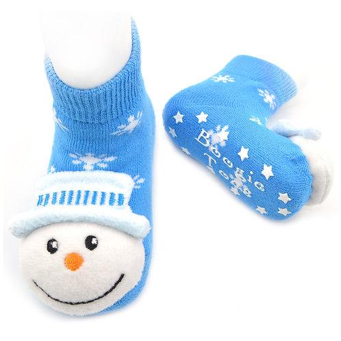 Snowman Boogie Toes Rattle Socks - Wholesale