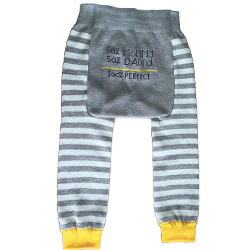 50% Mommy, 50% Daddy - 100% Perfect - Baby Tights Baby Leggings - Wholesale