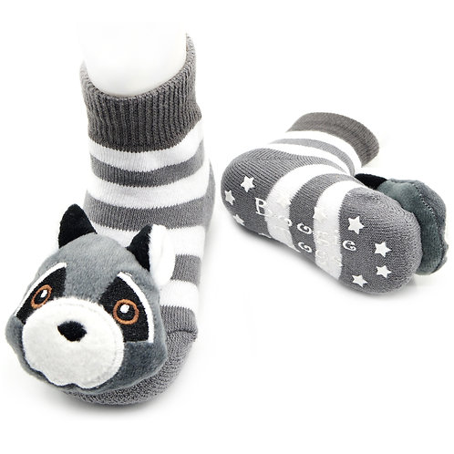 Clever Raccoon Boogie Toes Rattle Socks