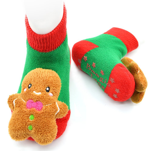 Gingerbread Boogie Toes Rattle Sock 3D