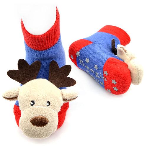 Reindeer Boogie Toes Rattle Socks - Wholesale