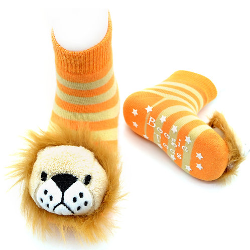 Lion Boogie Toes Rattle Socks